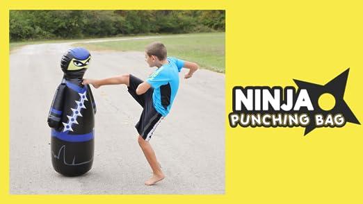 Ponacat Saco de Boxeo Inflable para Ni/ños Saco de Boxeo Ninja Independiente para Un Rebote Inmediato para Practicar Karate Taekwondo Mma Ejercicio F/ísico para Aliviar El Estr/és
