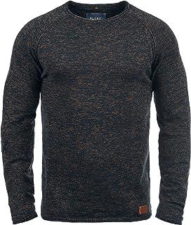 Uomo Felpa Pullover manica lunga shirt grande girocollo tinta Bolf 1a1 Classic