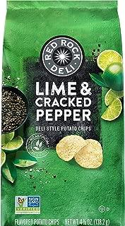 Red Rock Deli, Lime & Cracked Pepper Deli Style Potato Chips, 4.875 oz Bag