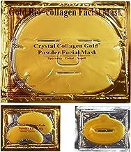 EBP Medical 24K Gold Collagen Combo Set: 10 x Facial Masks + 10 x Eye Masks + 10 x Lip Masks. Firm, Tone, Brighten Skin