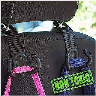 Car Back Seat Headrest Hanger Holder Hooks for Purse Grocery Bag Hat Cloth Coat Universal Vehicle Trunk Storage Organizer Heavy Duty Purse Hook Drop Stop Gadget Best Car Accessories for Women