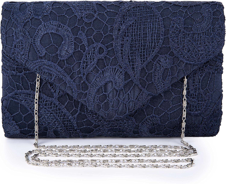 UBORSE Arlington Mall Women's Elegant Floral Cheap Lace Envelope Prom Clutch Evening