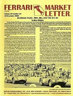 Ferrari Market Letter - One Page Article of Phil Hill and the Ferrari 412 MI