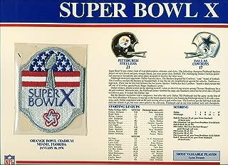 Super Bowl X 10 Patch Pittsburgh Steelers vs Dallas Cowboys at Orange Bowl