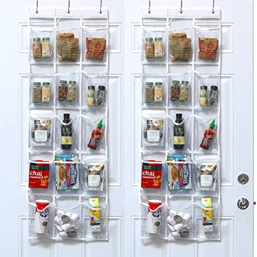2 Pack - SimpleHouseware Crystal Clear Over The Door Hanging Pantry Organizer (52\ Organizer: Amazon.com
