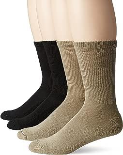 Dr. Scholl's Men's 4 Pack Diabetic and Circulatory Non-Binding Crew Sock