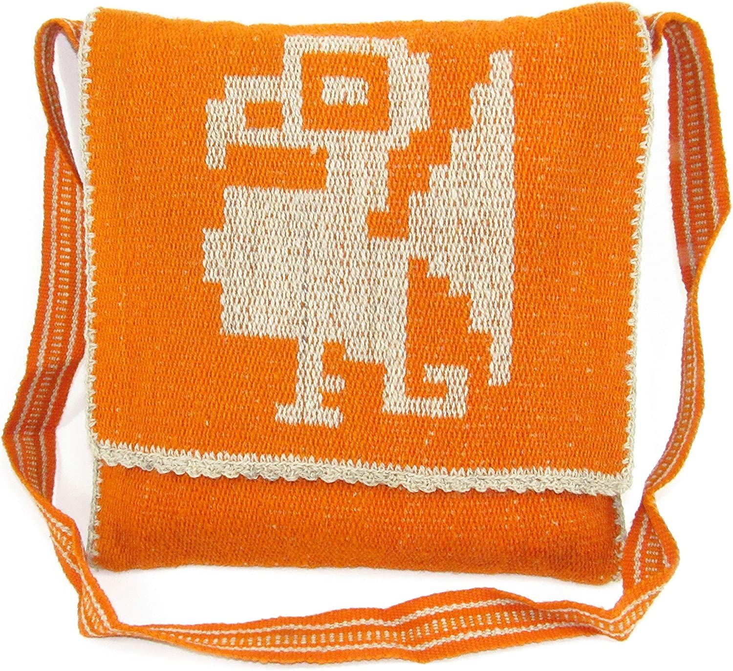 Bohemian Vintage Crossbody Handbag Handwoven Sheep Wool by MACHU PICCHU STORE 101302