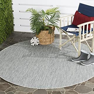 Safavieh Courtyard Collection CY8022 Indoor/ Outdoor Non-Shedding Stain Resistant Patio Backyard Area Rug, 9' x 9' Round, ...