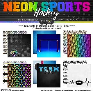 Scrapbook Customs Hockey Neon Scrapbook Kit