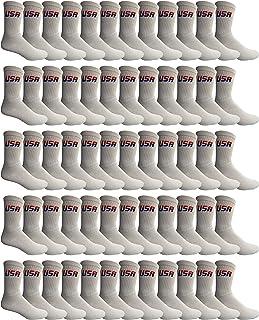 Yacht & Smith Mens & Womens Wholesale Bulk Sports Crew, Athletic Case Pack Socks, by SOCKS'NBULK