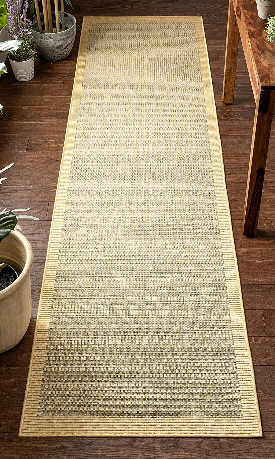 Well Woven Woden Bright Shipping included Yellow Flat-Weave Ranking TOP17 Indoor Outdoor Pile So