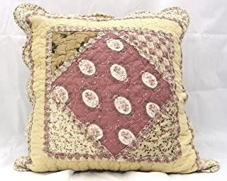 Cottage patchwork quilted pillow and cushion cover