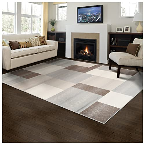 Superior Designer Clifton Collection Area Rug 8mm Pile Height With Jute Backing Contemporary Geometric