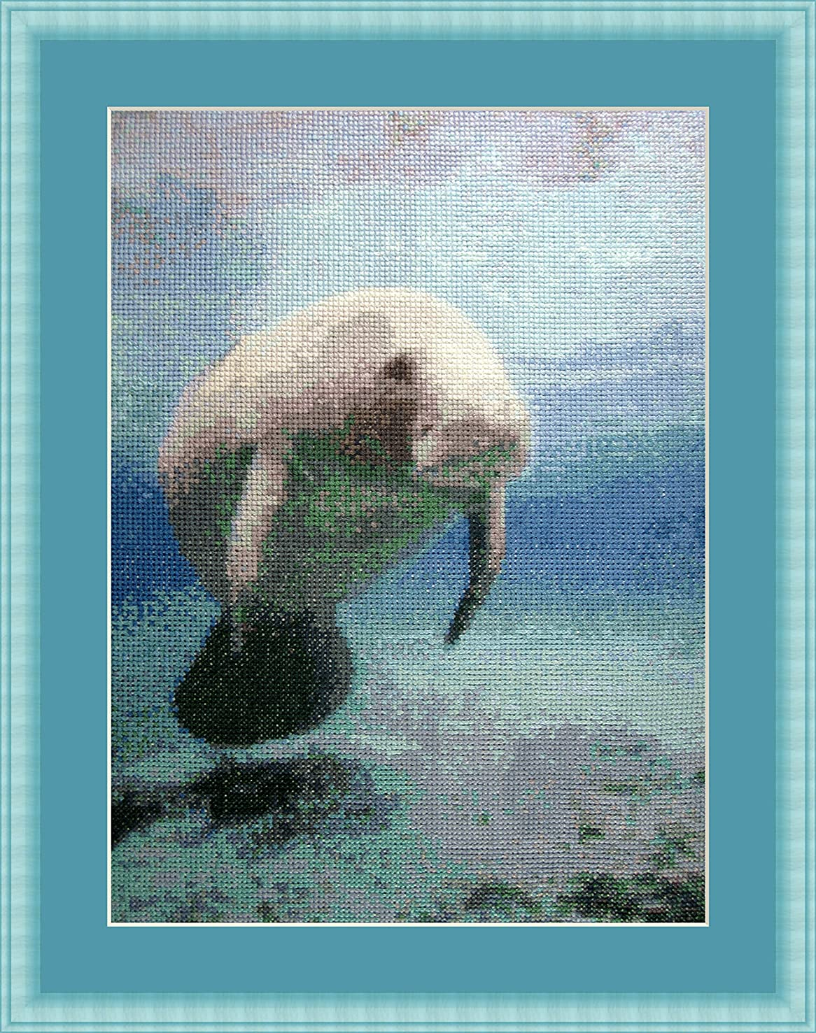Cow of the sea Counted Cross Stitch Kit By Orcraphics