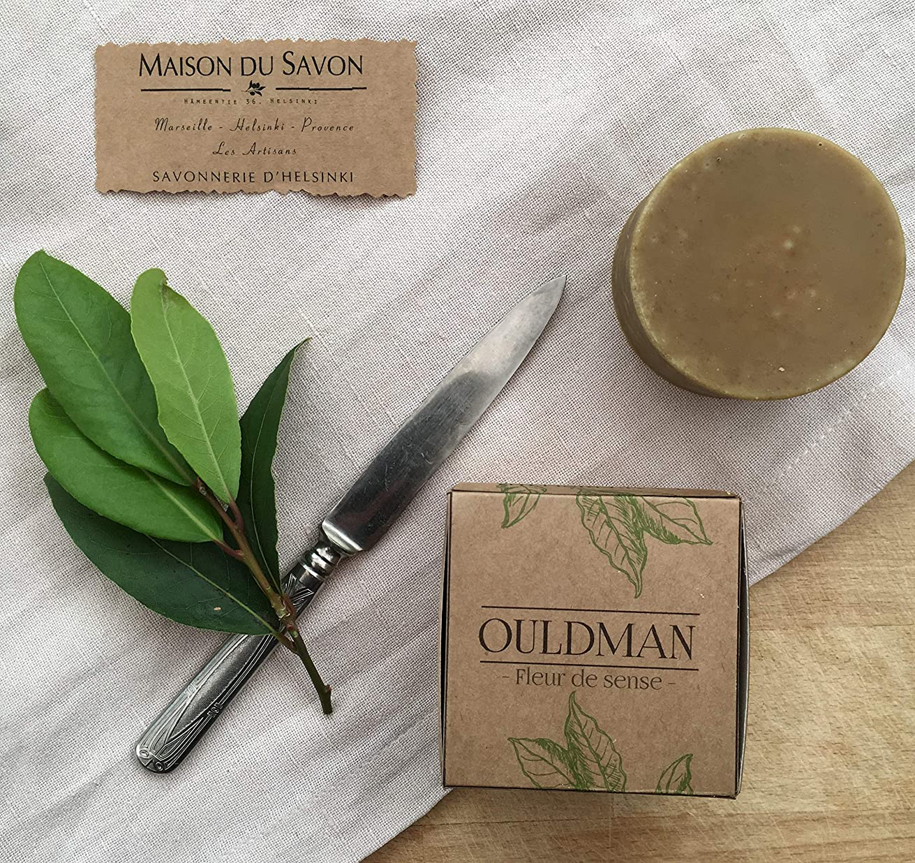 89611 OULDMAN soap bar BAY LEAF(ベイリーフ)石鹸 100g 【Helsinki Soap Factory】