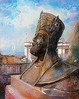 Busto Antico Sallalonga Dipinto Originale Fatto A Mano