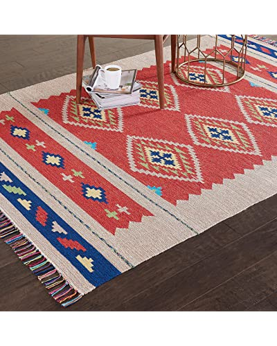 Red Area Rugs 5x7 Clearance Amazon Com