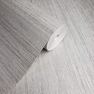 75 sq.ft Rolls Portofino Textured Unique Italian Luxury wallcoverings Modern Covering Embossed Vinyl Wallpaper Rustic Gray Silver Metallic Faux grasscloth Design Texture coverings Paste The Wall only