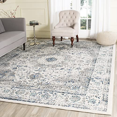 Safavieh Evoke Collection EVK220D Vintage Oriental Grey And Ivory Area Rug 10 X 14