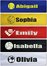 Caramel Custom Personalized Sport Cotton Stretch Headband Embroidered with Your Text