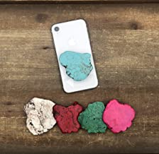The Threaded Pear Natural Stone POP Phone Grips (Green)
