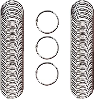 Clipco Book Rings Medium 1.5-Inch Nickel Plated (100-Pack)