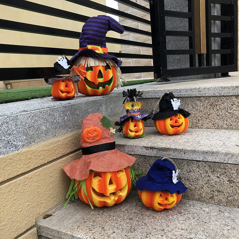 JOYIN 6 Pack Light up Halloween Jack-o'-Lantern Pumpk Challenge the lowest price of Japan ☆ Decorative store
