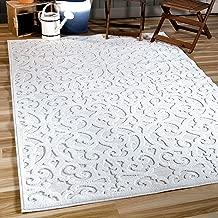 Orian Sculpted 4704 Indoor/Outdoor High-Low Debonair Natural Area Rug, 5'2