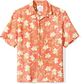 Amazon Brand - 28 Palms Men's Relaxed-Fit Silk/Linen Tropical Hawaiian Shirt