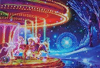 Bead Embroidery kit Dreamscape Carousel Needlework Carousel Horse Fantasy Wall Art Merry Go Round beadpoint Vintage Bead S...