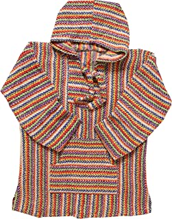 Mexican Style Baja Hoodie Poncho | Jergas Unisex (View Sizes, Colors)