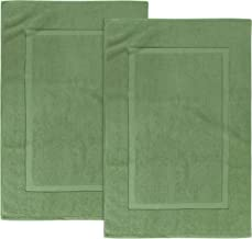 Utopia Towels 21-Inch-by-34-Inch Cotton Washable Bath Mat 2 Pack Sage Green