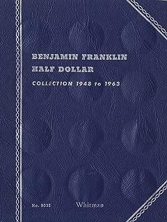 1948-1963 BENJAMIN FRANKLIN HALF DOLLAR ALBUM TRIFOLD 35 coin WHITMAN No 9032 COIN; ALBUM, BINDER, BOARD, BOOK, CARD, COLLECTION, FOLDER, HOLDER, PAGE, PORTFOLIO, PUBLICATION, SET, VOLUME