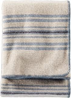 Pendleton Eco-Wise Washable Wool Throw Blanket - Irving Stripe Taupe