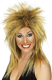 Tina Turner Two Tone Mullet Wig Ladies 1980s 80s Fancy Dress Accessory
