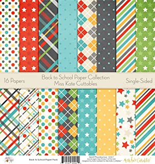 Pattern Paper Pack - Back to School - Scrapbook Premium SpecialtyPaper Single-Sided 12