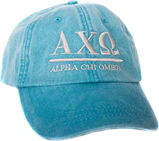 Alpha Chi Omega (B) Sorority Embroidered Baseball Hat Cap Cursive Name Font AXO