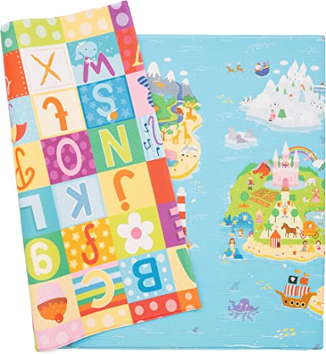 Baby Care Play Mat - Playful Collection (Large, Magical Islands) - Play Mat for Infants – Non-Toxic Baby Rug – Cushio...