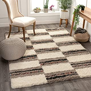 Well Woven Asilah Claire Shag Geometric Ivory 3'11