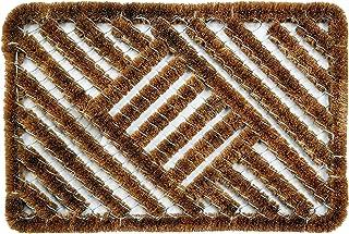 ID Mat Tapis Paillasson Coco, Acier, Beige, 40 x 60 cm
