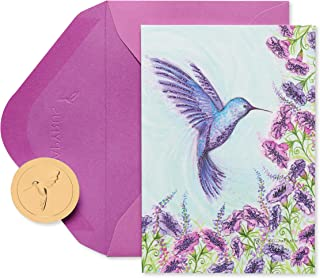 Papyrus Boxed Cards, Purple Hummingbird, 14-Count