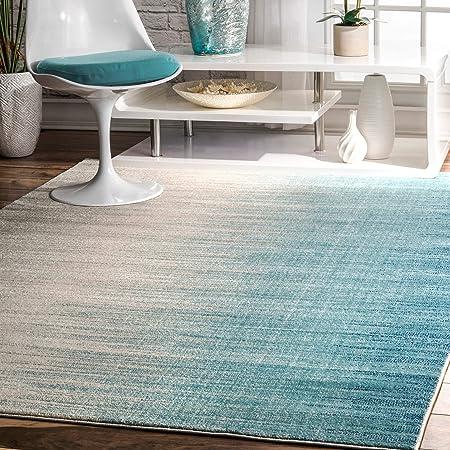 Amazon Com Nuloom Lexie Ombre Runner Rug 2 8 X 8 Blue Furniture Decor