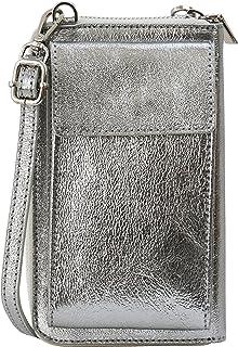 SH Leder Damen Handytasche Umhängetasche Geldbörse Multifunktion Beutel aus Echtleder Verstellbar Schultergurt Handy bis ...