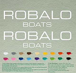 Pair of Robalo Boats Outboards Decals Vinyl Stickers Boat Outboard Motor Lot of 2 (12