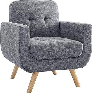 Millbury Home Elena Modern Fabric Contemporaty Armchair Singer Sofa for Living Room Furniture, Gray