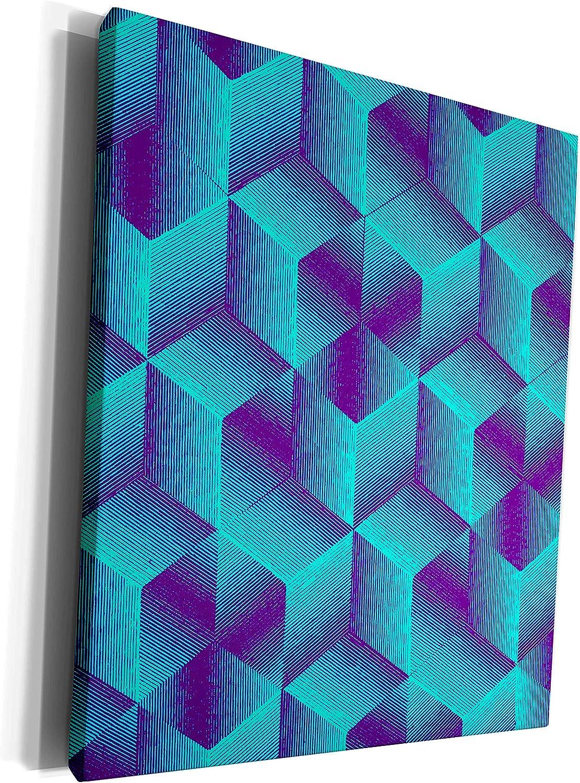 3dRose Russ Billington Patterns - Cube Purpl Abstract Free Shipping Cheap Bargain Gift in Pattern Elegant