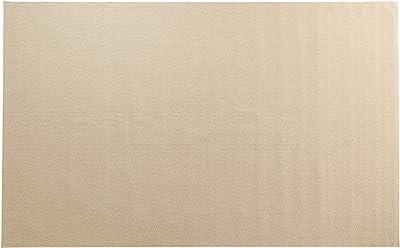 スミノエ(Suminoe) オーダーラグ アイボリー 幅110cm×長さ130cm PPミックスループ 防炎 防ダニ