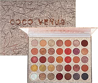 COCO VENUS Eyeshadow Palette 35 Pop Colors High Pigment Waterproof Eye Makeup Palette