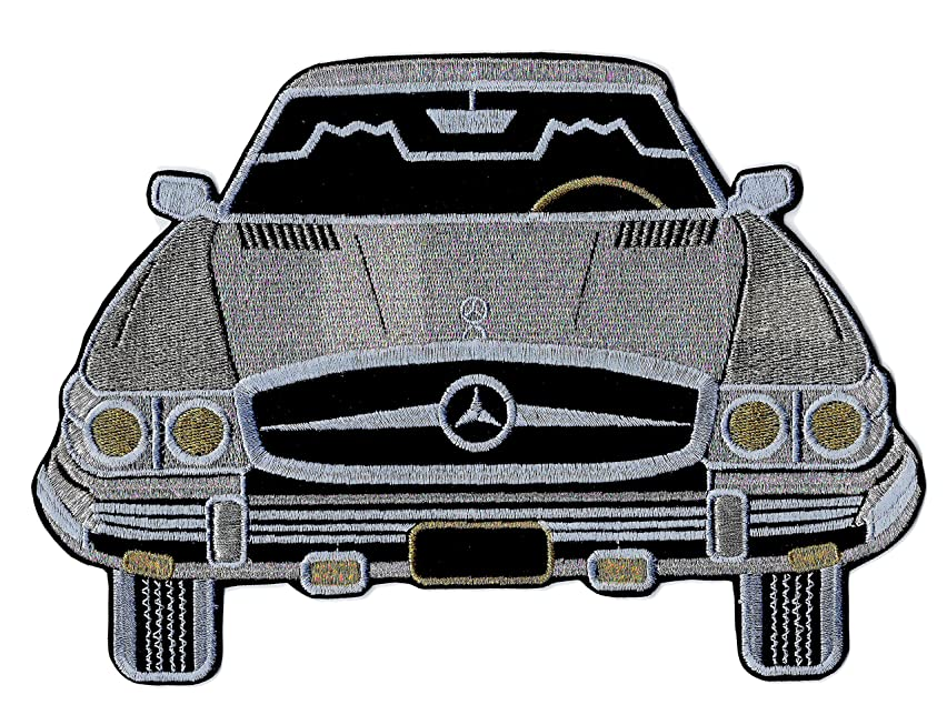Mercedes Benz Patch Vintage Classic Car Embroidered Iron on Large 9