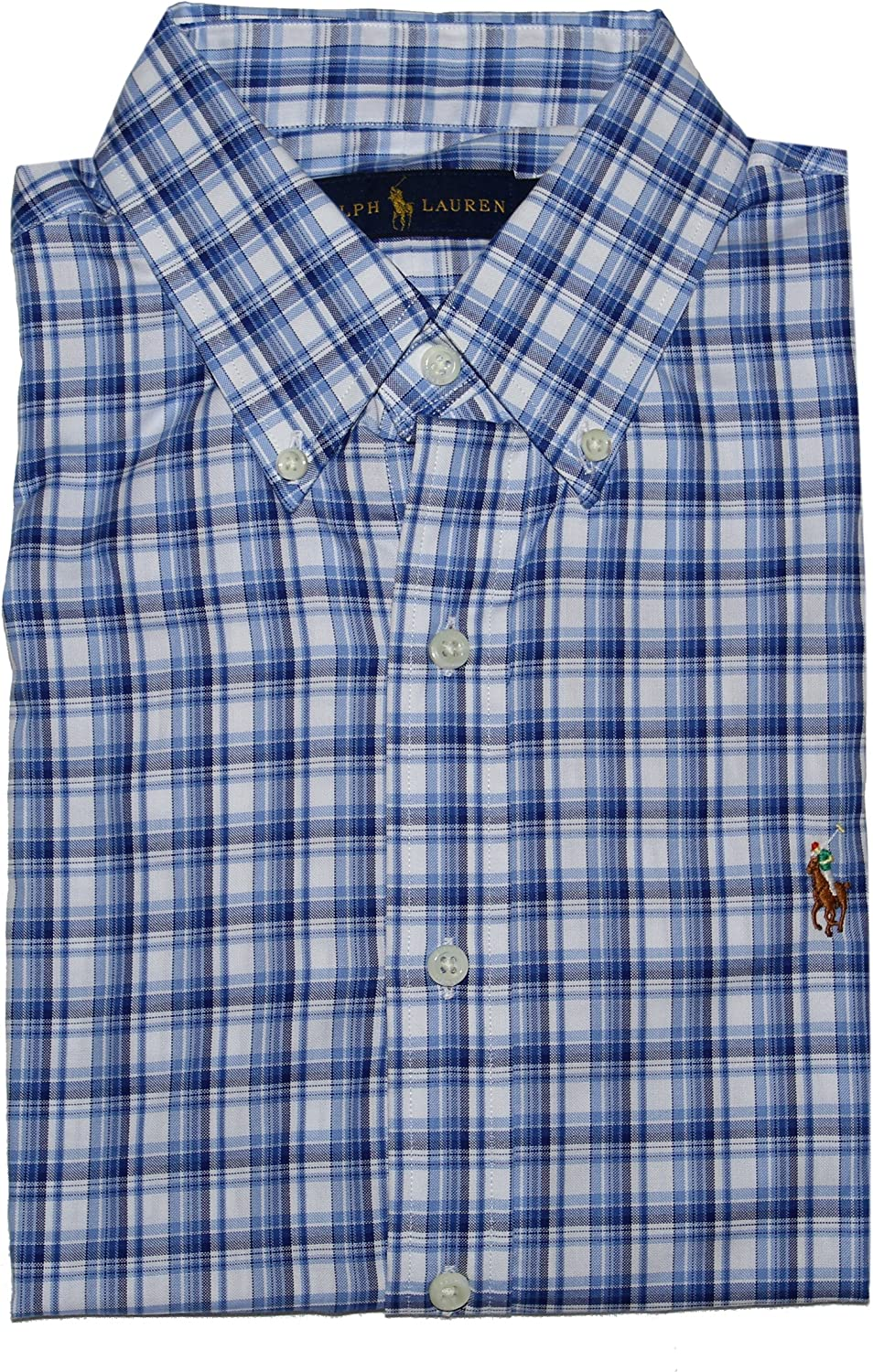Ralph Lauren Polo Men's Classic-Fit Long Sleeve Gingham Checked Performance Shirt